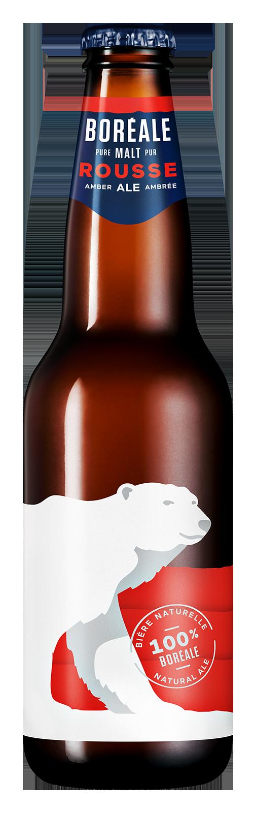 Bière Rousse de type Ale 341 mL - bouteille*_*Beer Rousse type Ale 341 mL - bottle*_*Cerveza Rousse 341 mL - Botella